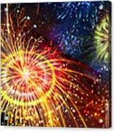 Beautiful Fireworks 8 Acrylic Print