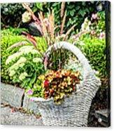 Beautiful Flowers In Basket Acrylic Print