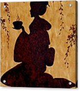 Beautiful Geisha Coffee Painting Acrylic Print