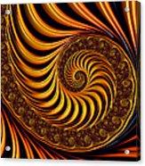Beautiful Golden Fractal Spiral Artwork  Acrylic Print by Matthias Hauser
