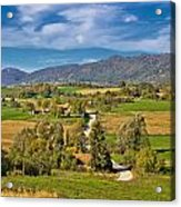 Beautiful Green Scenery Of Prigorje Region Acrylic Print