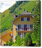 Beautiful House In Mont Blanc Acrylic Print