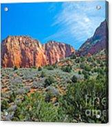 Beautiful Kolob Canyon Acrylic Print