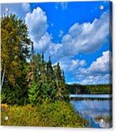 Beautiful Lake Abanakee - Indian Lake New York Acrylic Print by David Patterson