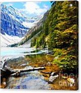 Beautiful Lake Agnes Acrylic Print