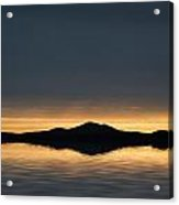 Beautiful Landscape Seascape Vibrant Sunset Acrylic Print
