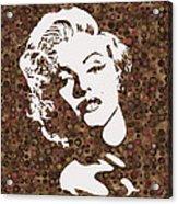 Beautiful Marilyn Monroe Digital Artwork Acrylic Print
