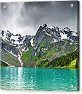 Beautiful Mointain And Lake Art Acrylic Print