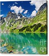 Beautiful Mointain And Lake Acrylic Print