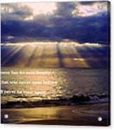 Beautiful Moment Acrylic Print
