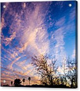 Beautiful Morning Sunrise Clouds Across The Sky Acrylic Print