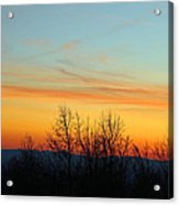 Beautiful Mountain Sunset Acrylic Print