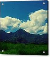 Beautiful Mountain White Could.. Blue Sky Acrylic Print