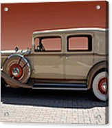 Beautiful Old Time Travelling Car Acrylic Print