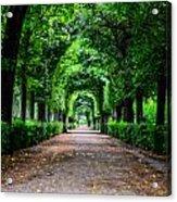 Beautiful Park At Schonbrunn Palace In Vienna Austria Acrylic Print