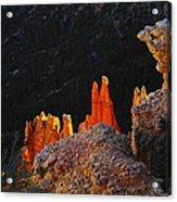 Beautiful Pinnacles At Bryce Canyon Acrylic Print