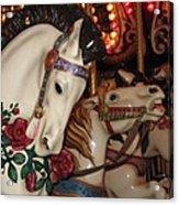 Beautiful Ponies Rwp Carousel Acrylic Print