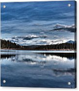 Beautiful Rainy Lake Acrylic Print