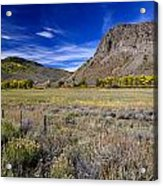 Beautiful Ranch In The Fall Acrylic Print
