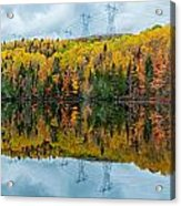 Beautiful Reflections Of A Autumn Forest In A Lake Acrylic Print