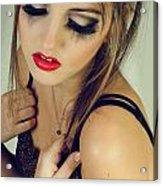 Beautiful Sad Woman Acrylic Print