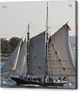 Beautiful Sailboat In Manhattan Harbor Acrylic Print