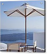 Beautiful Santorini View Acrylic Print