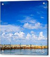 Beautiful Sea Sky Acrylic Print