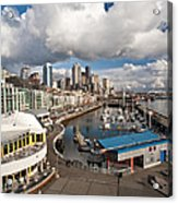 Beautiful Seattle Sky Acrylic Print by Mike Reid