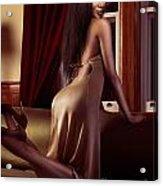 Beautiful Sexy Black Woman Near A Window Acrylic Print