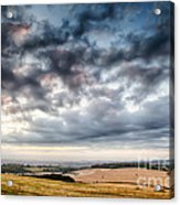 Beautiful Skies Over Farmland Acrylic Print
