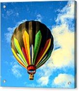Beautiful Stripped Hot Air Balloon Acrylic Print