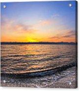 Beautiful Sunrise On A Red Sea Beach Acrylic Print