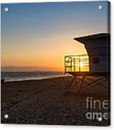 Beautiful Sunset In Point Mugu State Park In Malibu. Acrylic Print