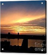 Beautiful New York City Sunset - Upper West Side Acrylic Print