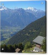Beautiful View From Riederalp - Swiss Alps Acrylic Print
