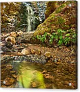 Beautiful View Of Upper Falls Located In Uvas Canyon County Park. Acrylic Print