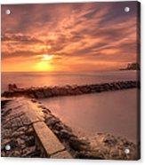 Beautiful Waikiki Sunset Acrylic Print by Tin Lung Chao