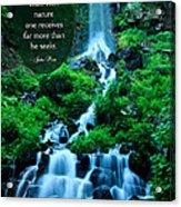 Beautiful Waterfalls Through A Walk With Nature Acrylic Print