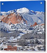 Beautiful Winter Garden Of The Gods Acrylic Print