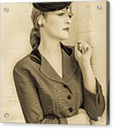 Beautiful Woman In Vintage Forties Clothing Acrylic Print