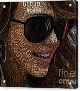 Beautiful Women Girls Acrylic Print
