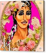 Beauty And Flowers 1 Acrylic Print