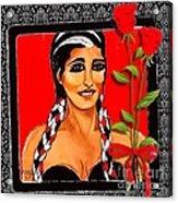 Beauty And Flowers 2 Acrylic Print