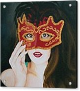 Beauty And The Mask Acrylic Print