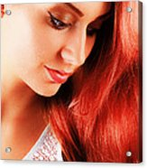 Beauty In Red Hair Acrylic Print