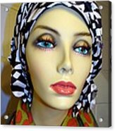 Beauty In Turban Acrylic Print
