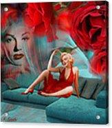 Beauty Never Dies - Tribute Art By Giada Rossi Acrylic Print