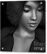 Beauty Was Her Name Bw Acrylic Print