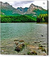 Beauvert Lake In Jasper Np-ab Acrylic Print